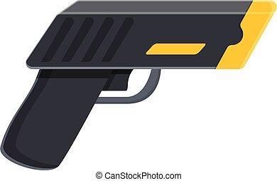 Taser danger icon. Cartoon of taser danger vector icon for web design isolated on white background