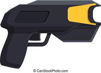 Taser gun icon. Cartoon of taser gun vector icon for web design isolated on white background