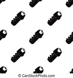 Taser icon in black style isolated on white background....