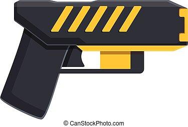Taser stun defense icon. Cartoon of taser stun defense vector icon for web design isolated on white background