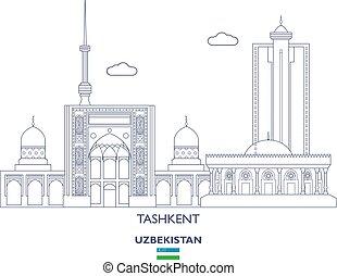 tashkent, stad skyline, oezbekistan