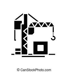 Task black icon, concept illustration, vector flat symbol, glyph sign.