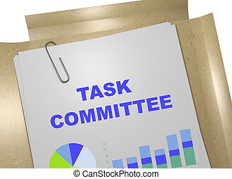 Task Committee business concept - 3D illustration of 'TASK...