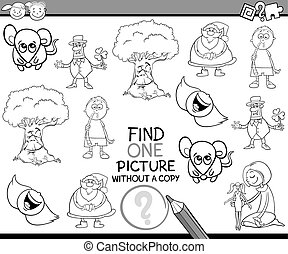 task for children coloring book - Black and White Cartoon ...
