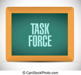 task force chalkboard sign concept illustration design...