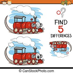 task of finding differences cartoon - Cartoon Illustration...