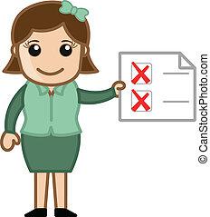 Task to Do - Business Cartoons Vector Illustration