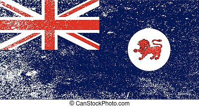 tasmânia, estado, grunge, bandeira