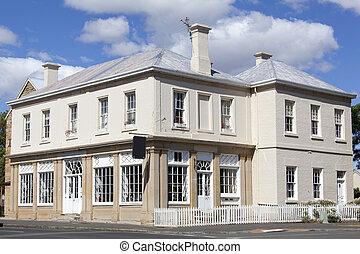 tasmański, historyczny, domy