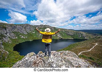 tasmania, ausztrália, bölcső, utazás, hegy, np