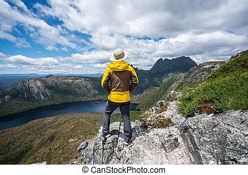 tasmania, hegy, bölcső, ausztrália, utazás, np