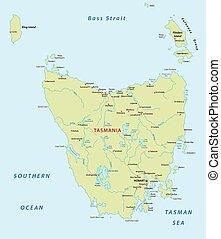 tasmania map - tasmania vector map
