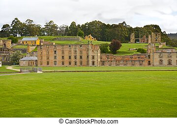 Tasmania, Port Arthur - Port Arthur historic building for...