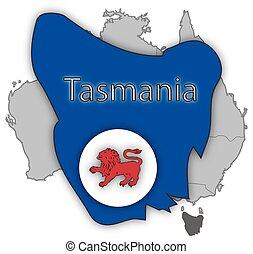 Tasmania Territory And Flag