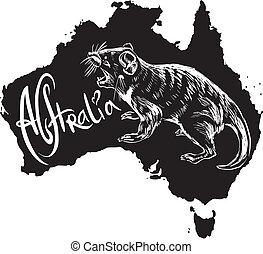 Tasmanian devil as Australian symbol - Tasmanian devil...