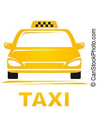 tassì, automobile, giallo
