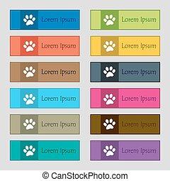 tass, ikon, skylt., sätta, av, tolv, rektangulär, färgrik, vacker, high-quality, knäppas, för, den, sajt., vektor