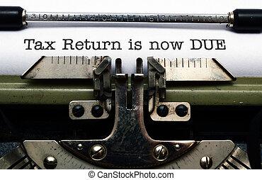tassa, ora, ritorno, dovuto