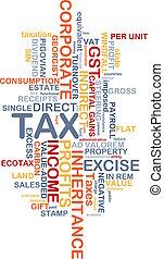 tassa, wordcloud, concetto, illustrazione