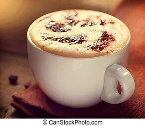 tasse à café, cappuccino., latte