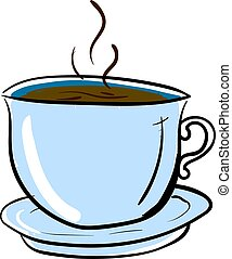 tasse à café, illustration, arrière-plan., vecteur, blanc