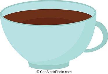 tasse à café, illustration, grand, arrière-plan., vecteur, blanc