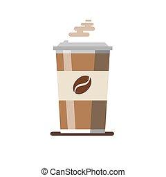 tasse à café, isolé, illustration, arrière-plan., vecteur
