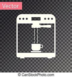 tasse à café, isolé, illustration, machine, arrière-plan., vecteur, blanc, transparent, icône