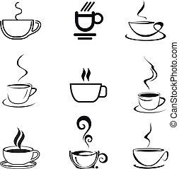 tasse à café, -, isolé, vecteur, icône