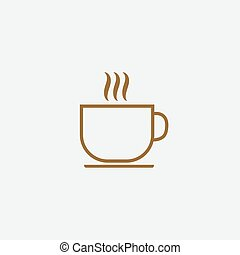 tasse, boisson chaude, icône