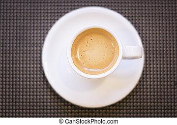 tasse, café, expresso, soucoupe