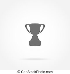 tasse, champion, icône