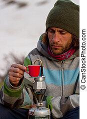 tasse, coffe, dehors