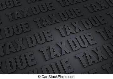tasse, dovuto, fondo