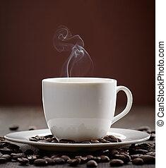 tasse fumante, café