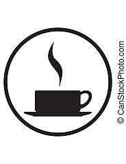 tasse fumante, icône, café