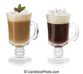 tasse kaffee, freigestellt, weiß