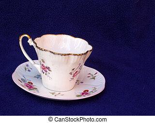 tasse, porcelaine, soucoupe