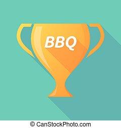 tasse, texte, long, récompense, ombre, barbecue