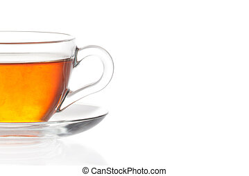 tasse thé, fond, blanc