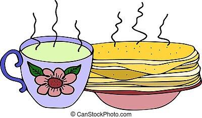 tasse thé, illustration