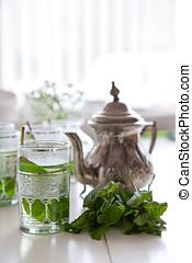 tasse thé, menthe, frais