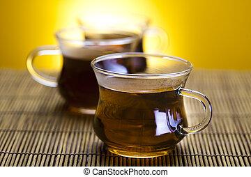 tasse thé, verre
