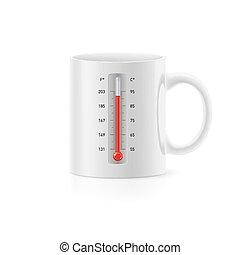 tasse, thermomètre