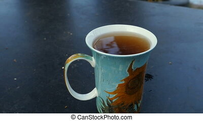 tasse, vapeur, thé