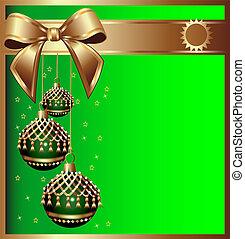 tassel, bal, achtergrond, cristmas, boog