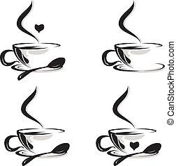 tasses café, ensemble