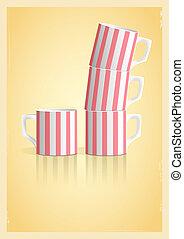 tasses café, style, retro