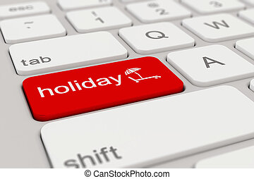 tastatur, -, feiertag, -, rotes