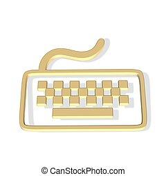 tastatur, ikone